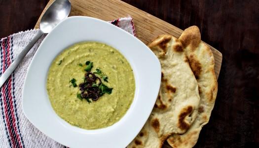 Creamy Celery Soup with Homemade Flatbread